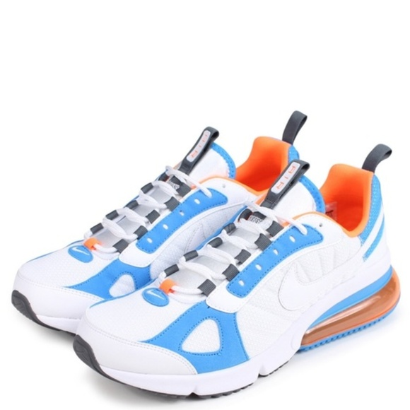 delicate colors sale retailer usa cheap sale Nike Air Max 270 Futura White /Blue /Total Orange
